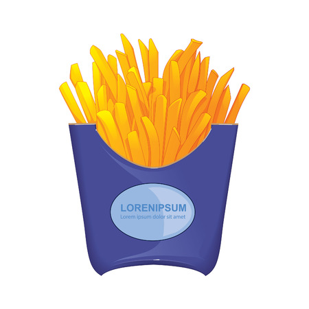 deep fried: french fries. vector illustation Stock Photo