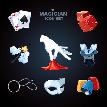 show hands: iconos mago paquete Foto de archivo