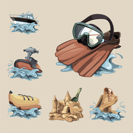 flippers: Water Games. The Big Icon set