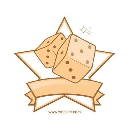 crimson: clean logo with dice