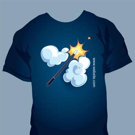 thaumaturge: tshirt design with magic wand picture