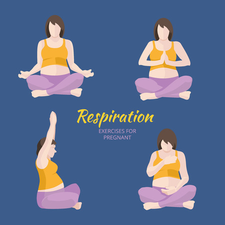 asana: Pregnant Woman breathing exercises, Yoga asana