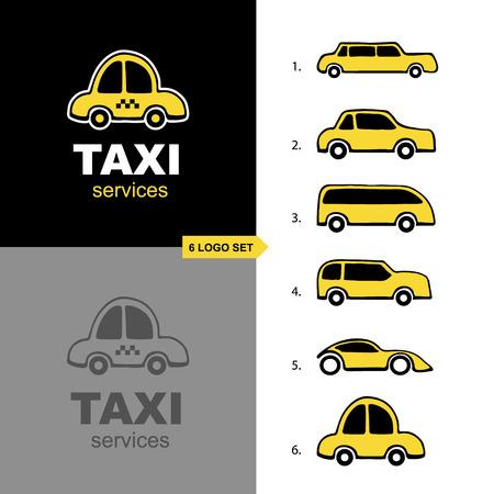 adaptive: vector adaptive logo set for taxi service