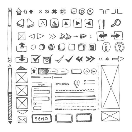 web site ellements sketch Illustration