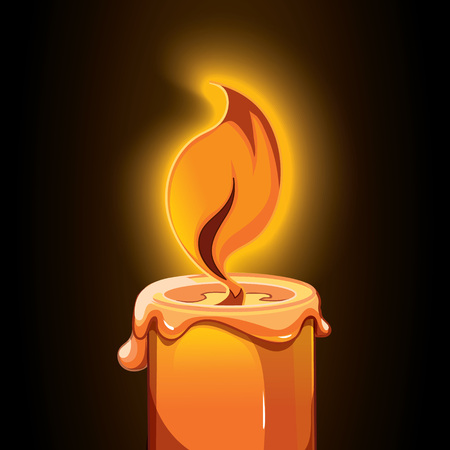 scented candle: candle picture on dark background