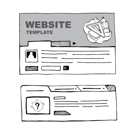 webpage: wireframe of web page for web developers