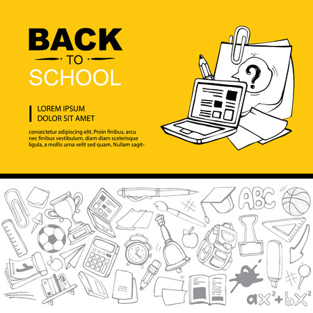 ellements: Back to School. Conceptual background picture with schooll ellements. you can try this template for print advertising or some other personal design project
