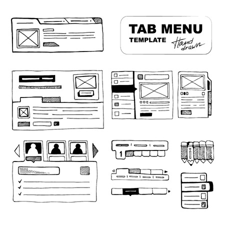 web site design: Sketching big wireframe websites menus for web developers