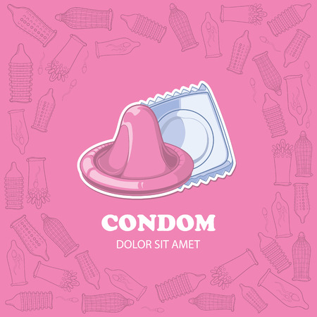 pink background picture with condoms