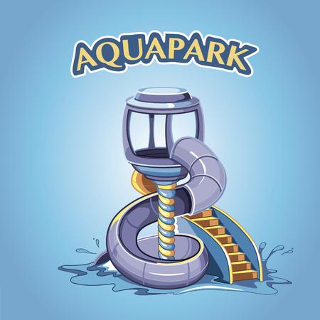 aqua park: screw Water hill in an aqua park.