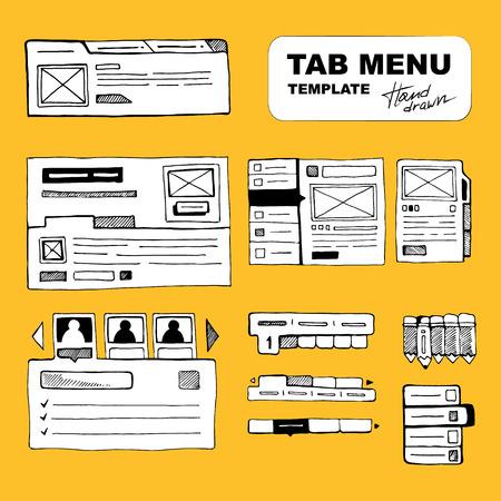 Sketching big wireframe websites menus for web developers