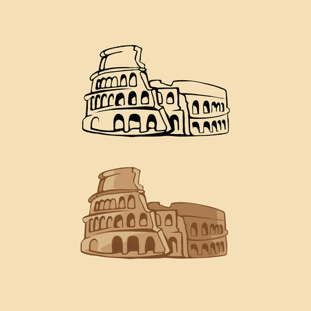 ruins: illustration of Colosseum Illustration