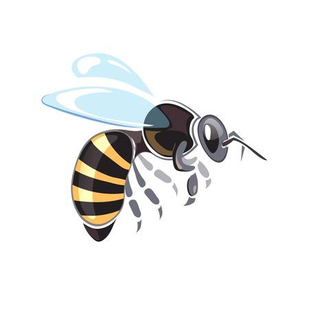 Bijenstal vector illustraties. Bijenstal symbolen. Bee isoleren op een witte achtergrond