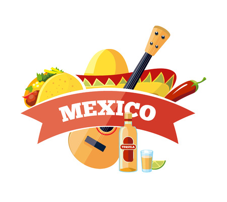 delivery icon: Vector mexican  badge design. Illustration isolate on white background