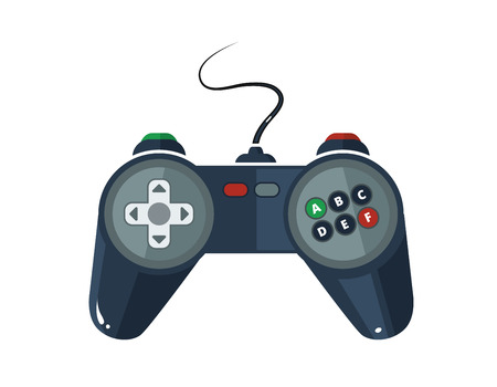 move controller: vector picture of gamepad in flat style isolate on white background