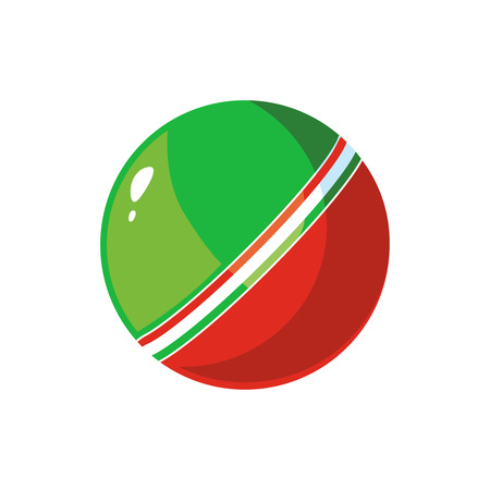inflatable ball: vector illustration of color ball for kids isolate on white background.