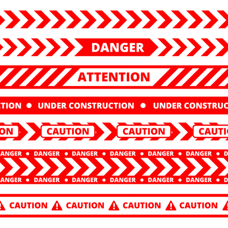 danger do not cross: Seamless pattern of red construction tape