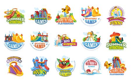 speeltuin labels. aqua waterpark zomeramusement