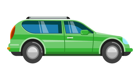 Blue suv car.  family roadster automobile sport off-road vehicle Ilustração