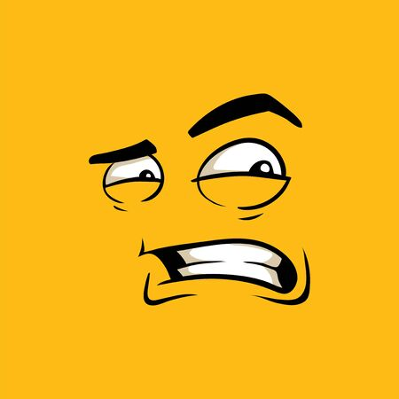Face with angry face expression cartoon vector emoji