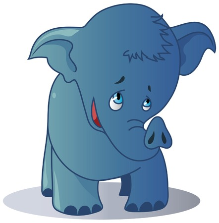Vector illustration of cute elephant Stock Vector - 8655578