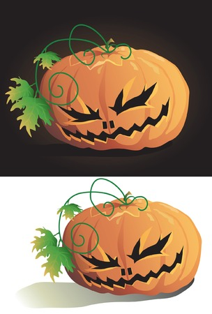 Vector illustration of halloween pumpkin