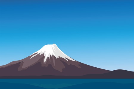 Mountain Fujiyama in Japan on a background of lake Stock Vector - 8655568