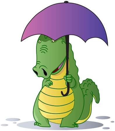 A cute crocodile  Vector