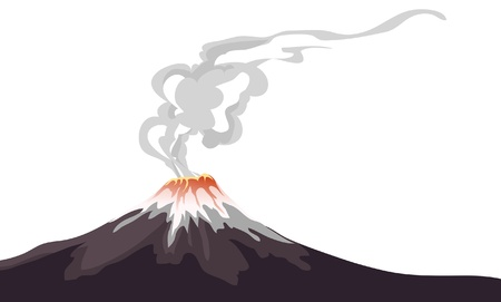 A Vector illustration of an erupting Volcano