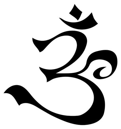 hinduismo: S�mbolo de Aum de la imagen de la