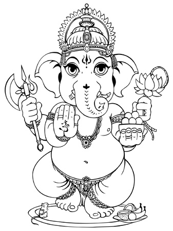 Lord Ganesha of Hindus God. Stock Vector - 12481358
