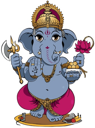 Lord Ganesha of Hindus God. Stock Vector - 12481387