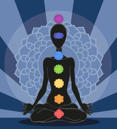aura energy: Chakras Illustration
