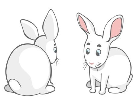 year of the rabbit: Cute cartoon rabbits
