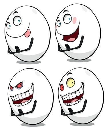 illustration set of cute crazy eggs Stock Vector - 14856376