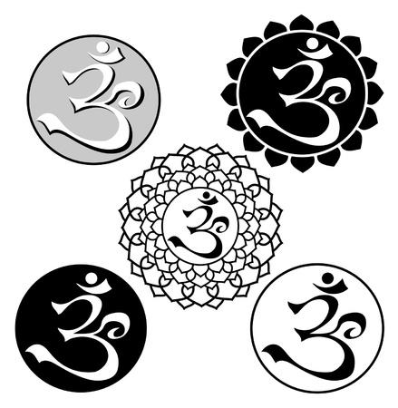 tibet: image of aum symbol