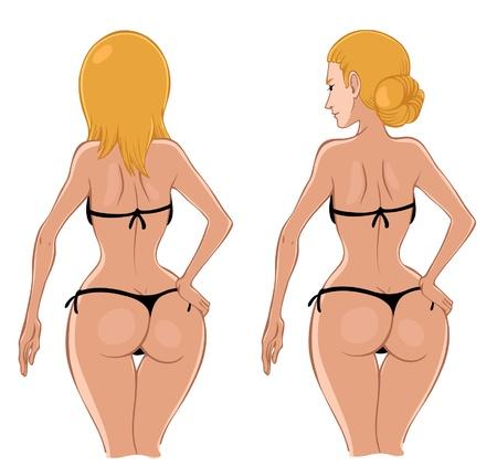 Sexy woman in bikini Stock Vector - 16146407