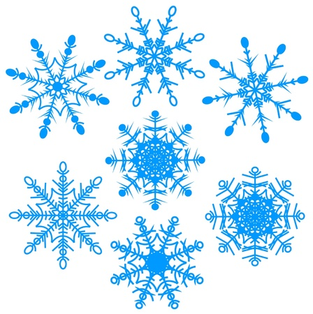 illustration set of beautiful various snowflakes Stock Vector - 16146408