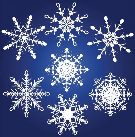 illustration set of beautiful vaus snowflakes Stock Vector - 16146409