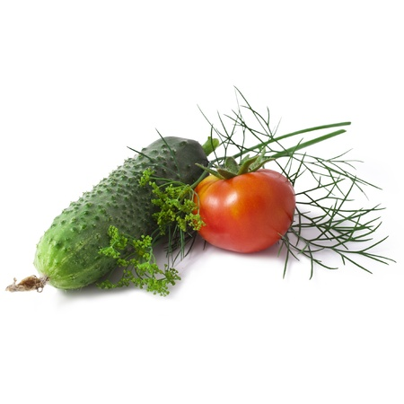 vegetables isolated on white background Stock Photo - 21005564