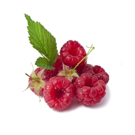 Ripe raspberries isolated on a white background Stock Photo - 21005565