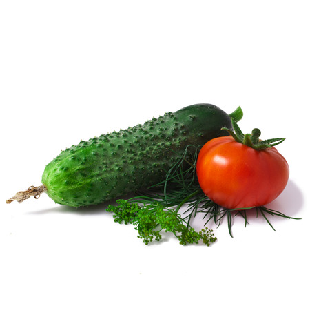 vegetables isolated on white background Stock Photo - 23060480
