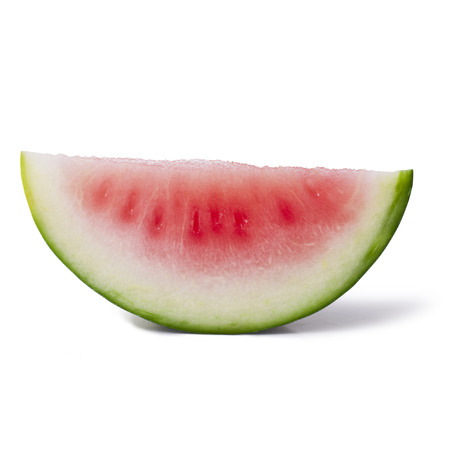 Slice of watermelon on white background Stock Photo - 23072637