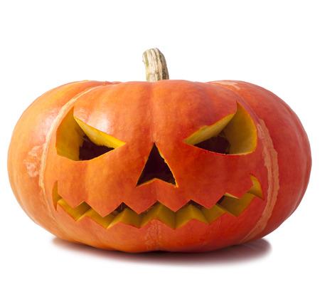 Pumpkin halloween isolated white Stock Photo - 23072963