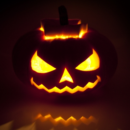 Halloween pumpkin on black  Stock Photo - 23072961
