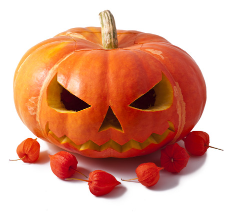 Pumpkin halloween isolated white  Stock Photo - 23074110