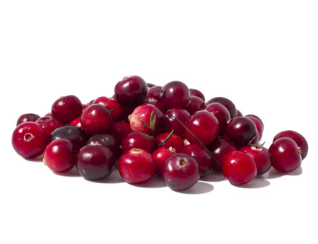 heap of ripe cranberries isolated on white background  Stock Photo - 23075534