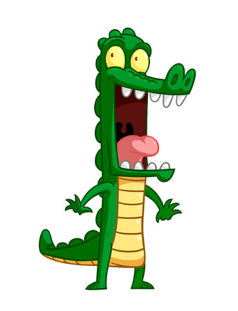 A cute cartoon crocodile Illustration