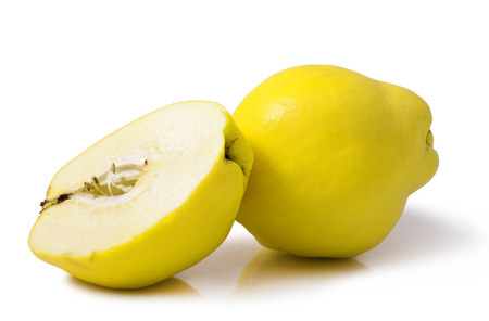 quince isolated on white background  Stock Photo