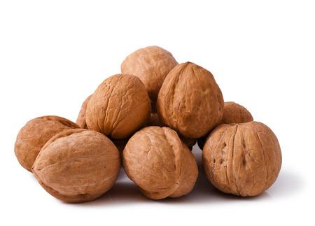 walnut close up isolated on white background